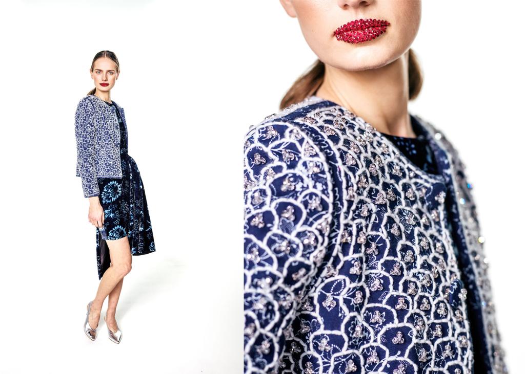 Foto von Blaudruck-Jacke und Blaudruck-Kleid